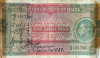 Malta Five Shillings banknote from the short snorter of Capt. George E. Richards dated Oct. 3, 1943, noted that he was