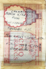 Morocco Five Francs banknote from the short snorter of Capt. George E. Richards. Notation reads,