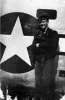 Findley next to his B-24, 1944.