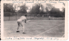 Rudy Thigpen and Victor Ciganek playing tennis at the Moulsford Manor Rest Home Aug. 1943