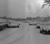398th Bomb Group, 603rd Bomb Squadron, at Nuthampstead. Snow covered vehicles on base.