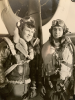 1st Lt. Walter R. Frederick and 1st Lt. Johnny E. Ross 63rd FS, 56th FG, 8th AF - friends from home and from service.