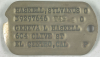 Sylvanus Haskell's Dog Tag from page 18 of German document KU-2389 at https://catalog.archives.gov/id/147886605 (NARA)