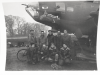 Miss Quachita (42-3040) 323rd BS, 91st BG BACK ROW - LEFT TO RIGHT: M/Sgt. Red Cunningham, Line Chief;  Cpl. Newman;  Unknown;  Unknown; M/Sgt. Lyle Cook, Crew Chief FRONT ROW - LEFT TO RIGHT: Sgt. A.R.