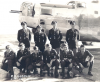 A Bomber crew of the 466th Bomb Group with their B-24 Liberator.   Handwritten on image: 'RG Gordon 279-55.'  The crew went down over Belgium on 20 February 1945.  The control cable on B-24H-20-FO #42-50336