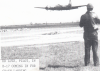 A ground crewman of the 379th Bomb Group watches a B-17 Flying Fortress (FR-C, serial number 42-38183) nicknamed